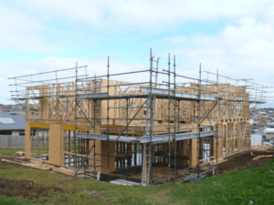 Scaffolding on new house build
